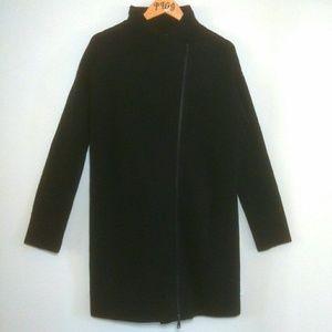 Vince Moro sweater long Med. Zip up black